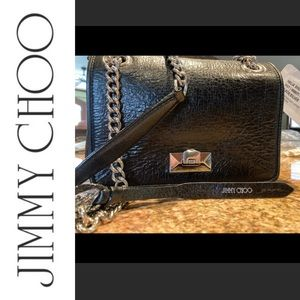 NWT Jimmy Choo Helia Leather Shoulder Bag
